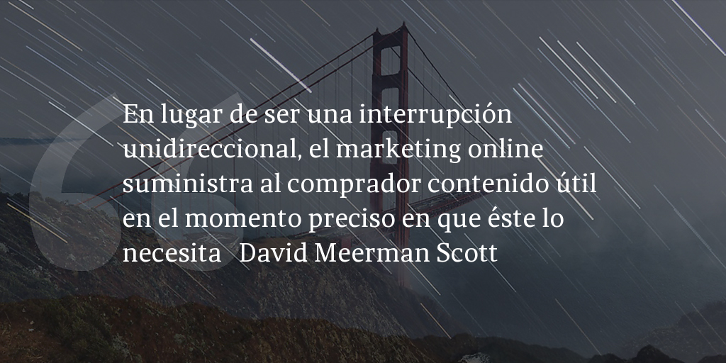 Frase de inbound marketing de David Meerman Scott