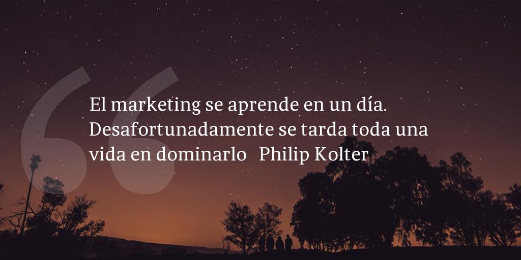 Frase de inbound marketing de Philip Kolter