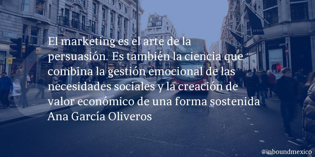 Frase de inbound marketing de Ana García Oliveros