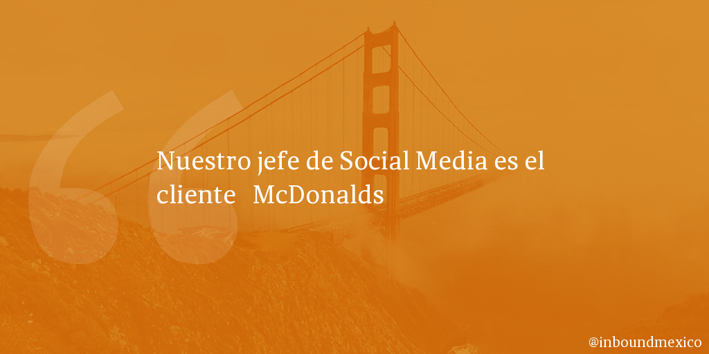 Frase de inbound marketing de McDonalds