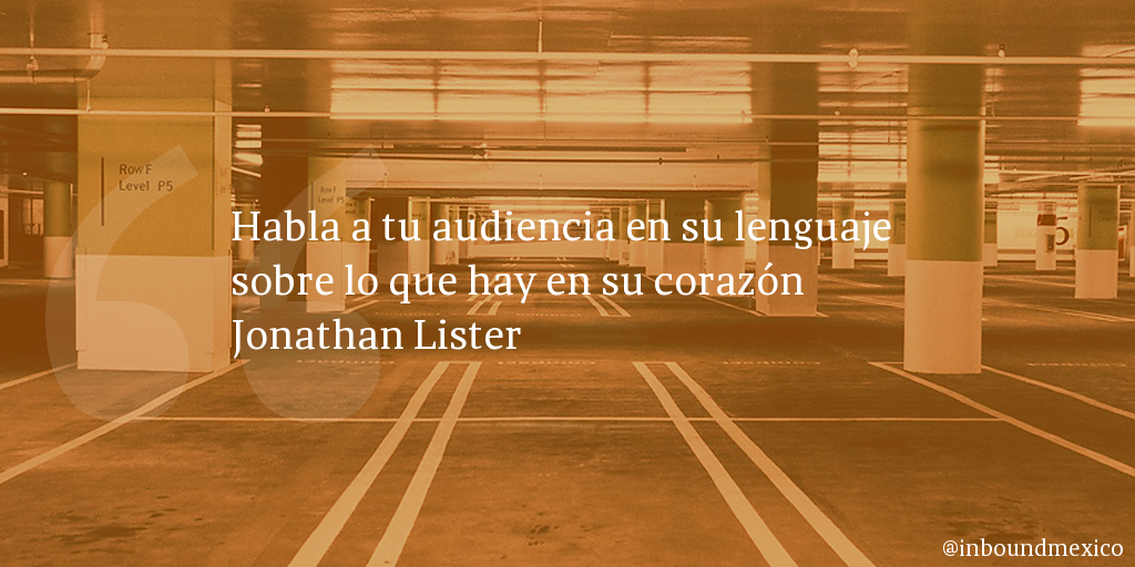 Frase de inbound marketing de Jonathan Lister