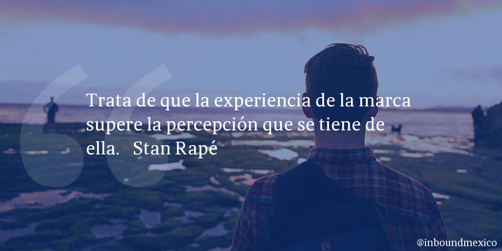 Frase de inbound marketing de Stan Rapé