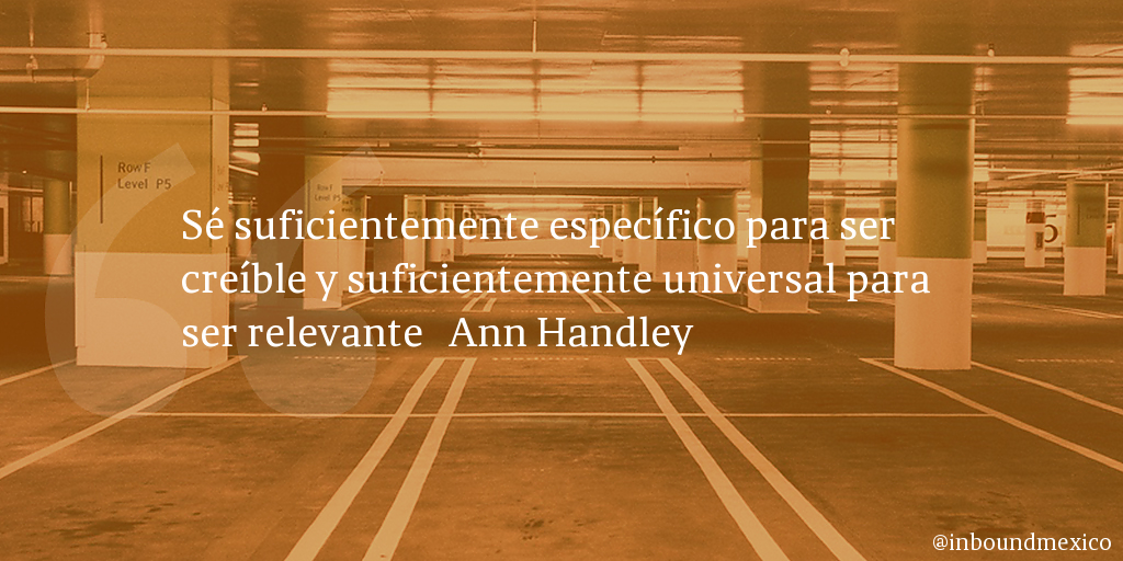 Frase de inbound marketing de Ann Handley