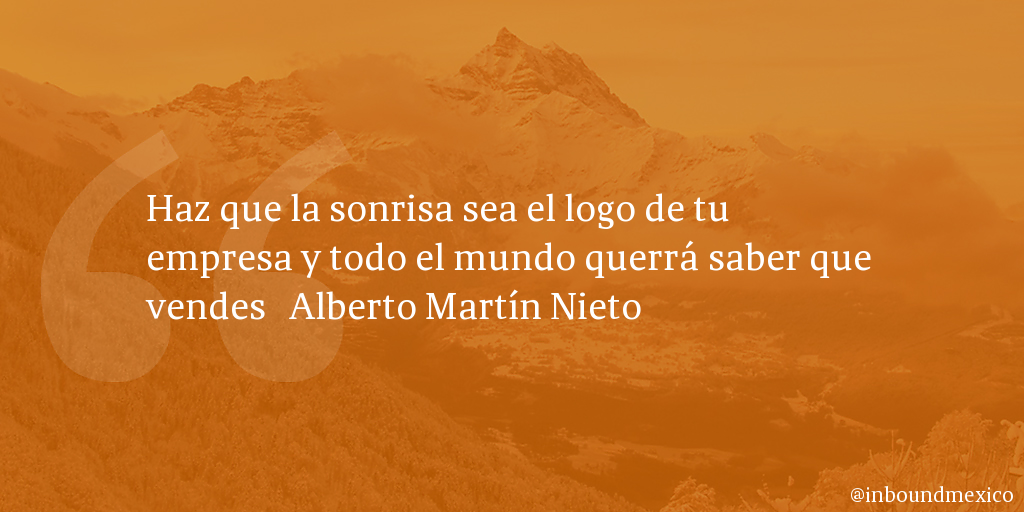 Frase de inbound marketing de Alberto Martín Nieto