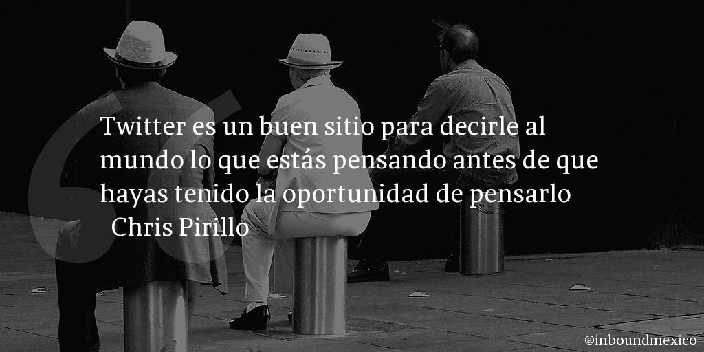 Frase de inbound marketing de Chris Pirillo