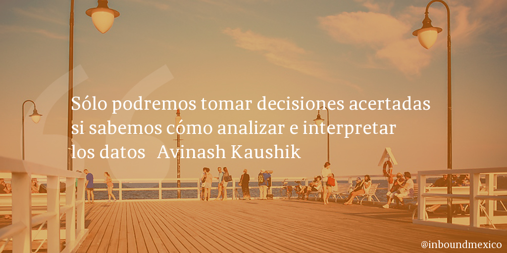 Frase de inbound marketing de Avinash Kaushik