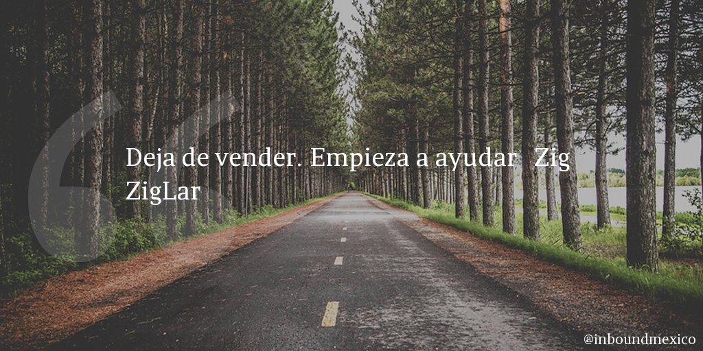 Frase de inbound marketing de Zig ZigLar