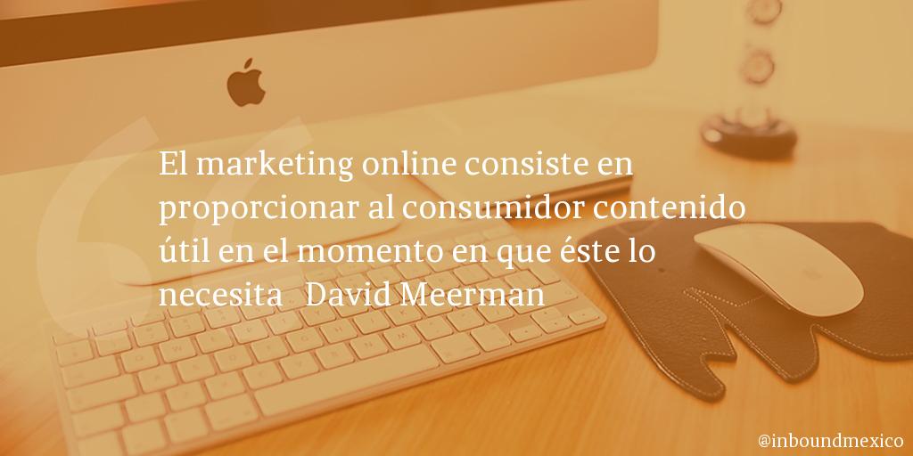 Frase de inbound marketing de David Meerman
