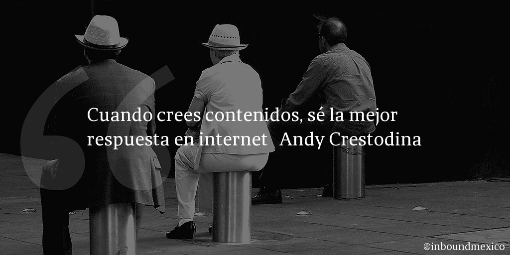 Frase de inbound marketing de Andy Crestodina