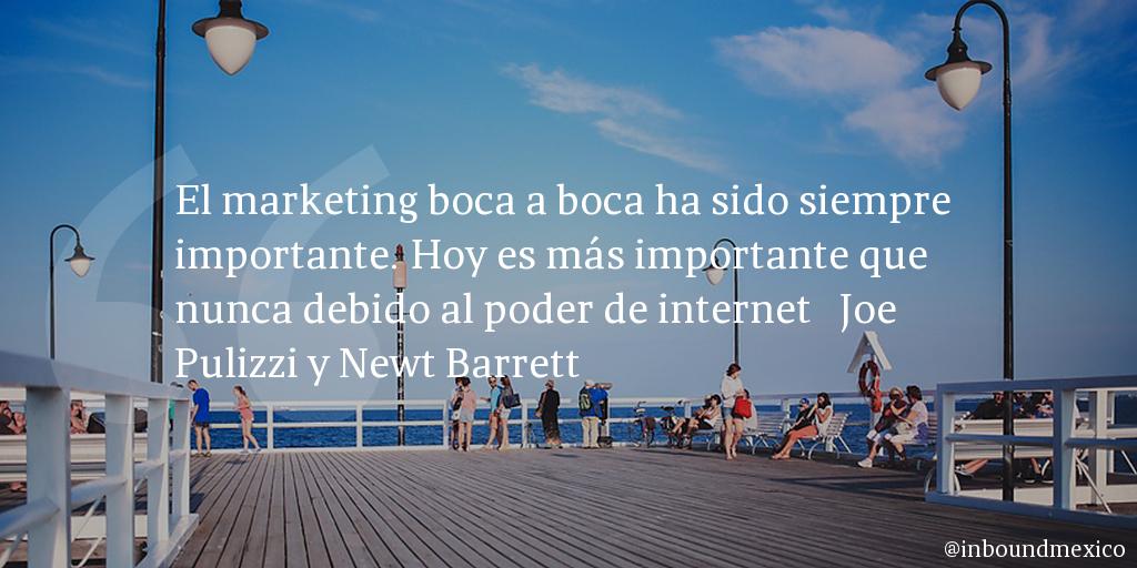 Frase de inbound marketing de Joe Pulizzi y Newt Barrett