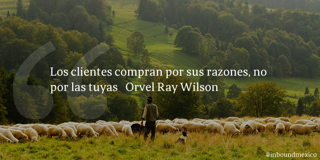 Frase de inbound marketing de Orvel Ray Wilson