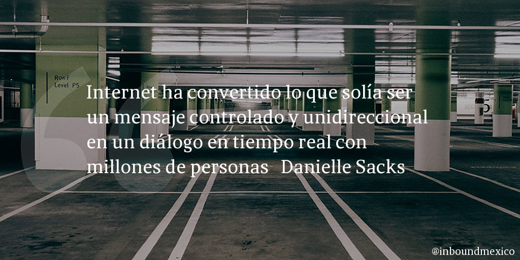 Frase de inbound marketing de Danielle Sacks
