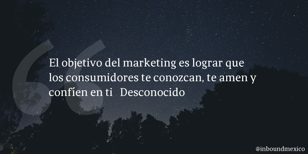 Frase de inbound marketing de Desconocido