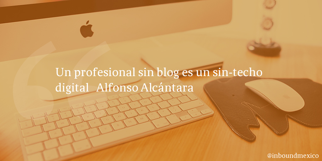 Frase de inbound marketing de Alfonso Alcántara