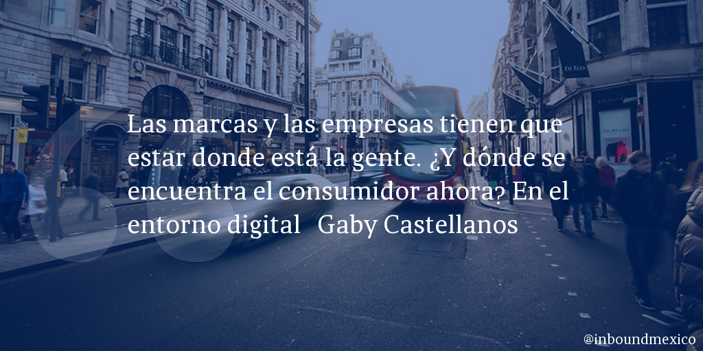 Frase de inbound marketing de Gaby Castellanos