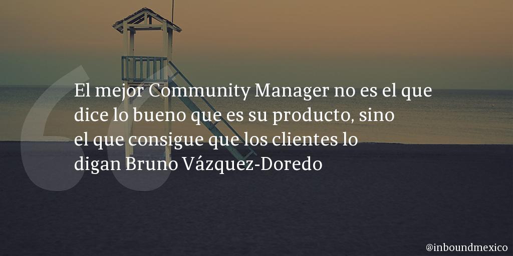 Frase de inbound marketing de Bruno Vázquez-Doredo