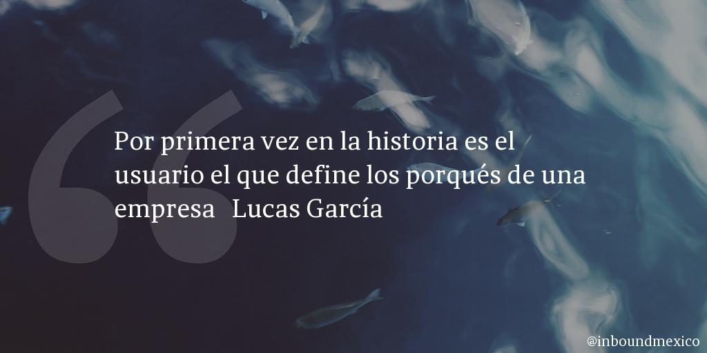 Frase de inbound marketing de Lucas García