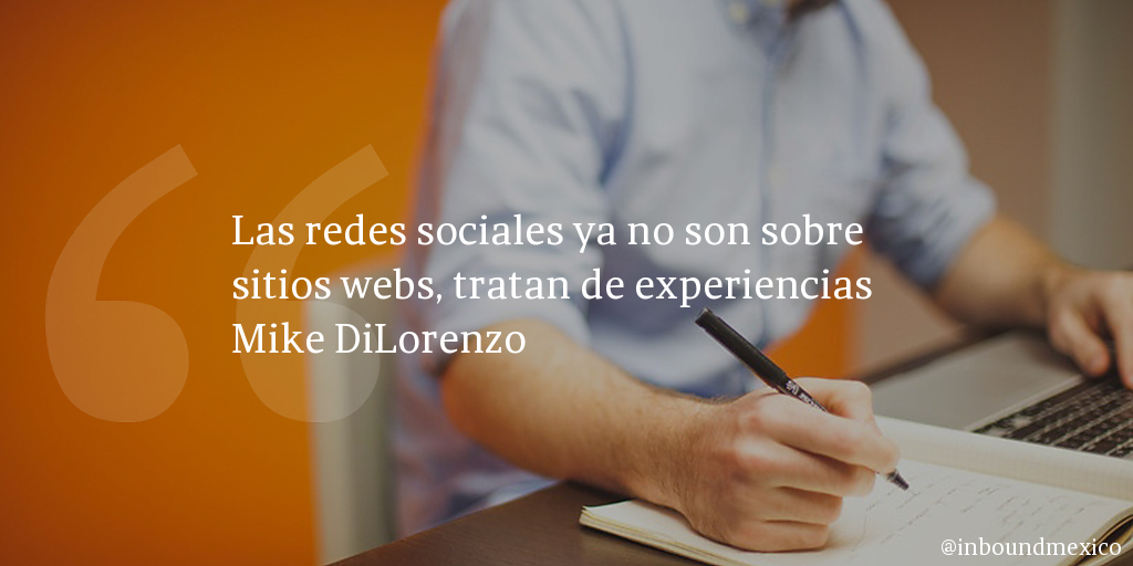 Frase de inbound marketing de Mike DiLorenzo