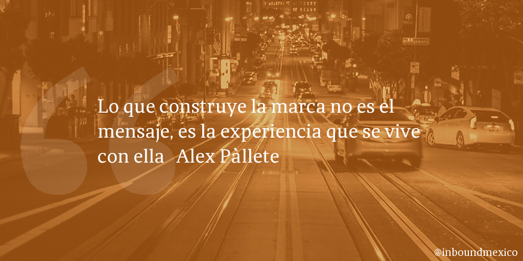 Frase de inbound marketing de Alex Pàllete