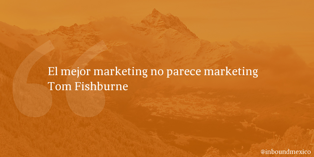 Frase de inbound marketing de Tom Fishburne
