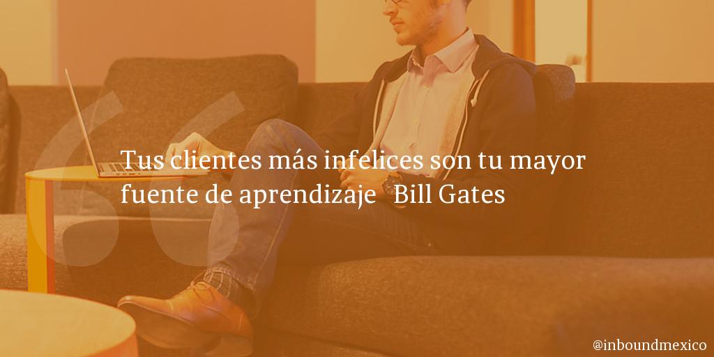 Frase de inbound marketing de Bill Gates