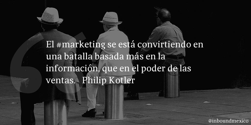 Frase de inbound marketing de Philip Kotler