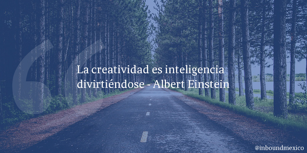 Frase de inbound marketing de Albert Einstein