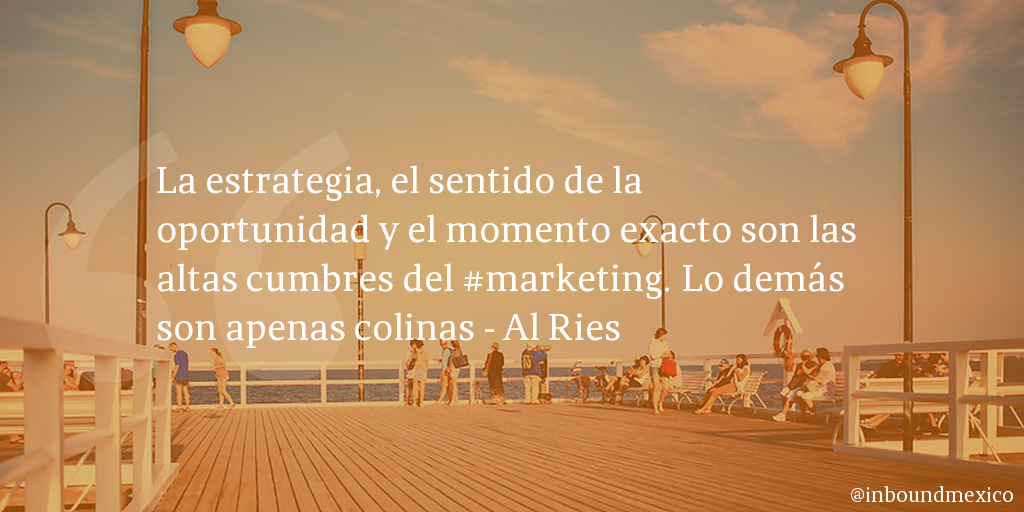Frase de inbound marketing de Al Ries
