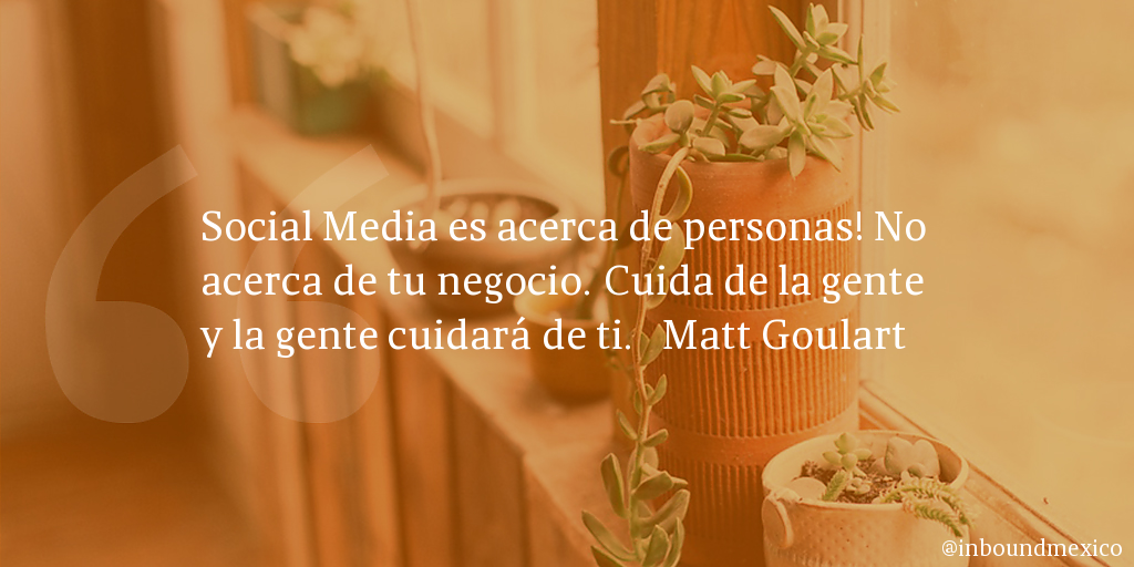 Frase de inbound marketing de Matt Goulart