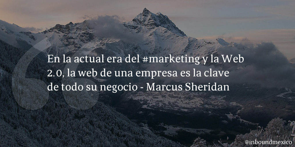 Frase de inbound marketing de Marcus Sheridan
