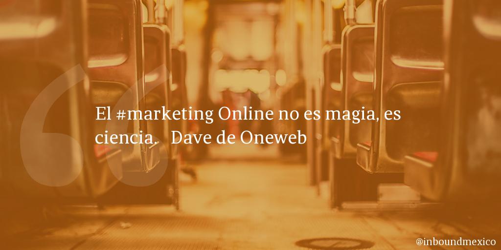 Frase de inbound marketing de Dave de Oneweb