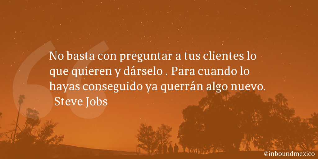Frase de inbound marketing de Steve Jobs