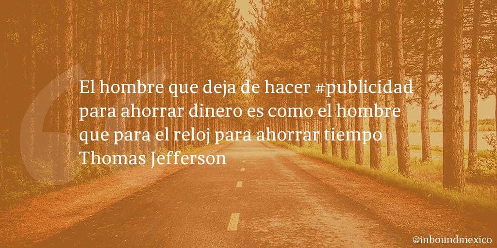 Frase de inbound marketing de Thomas Jefferson