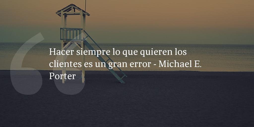 Una frase de Michael E. Porter, inbound marketing para compartir con amigos y colegas.