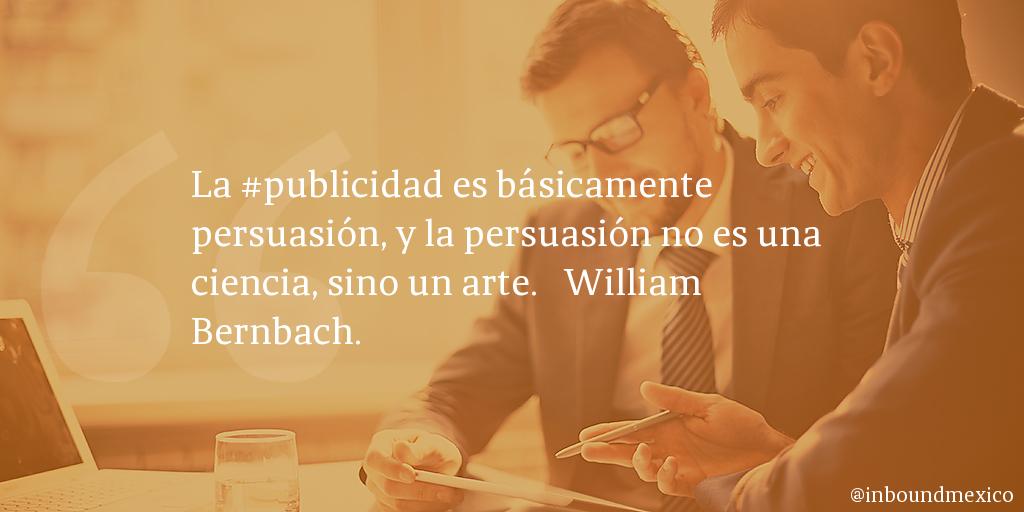 Frase de inbound marketing de William Bernbach